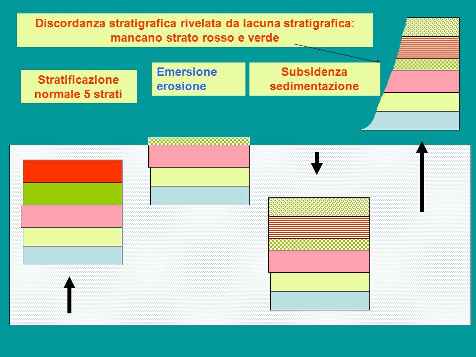 Subsidenza sedimentazione Stratificazione normale 5 strati