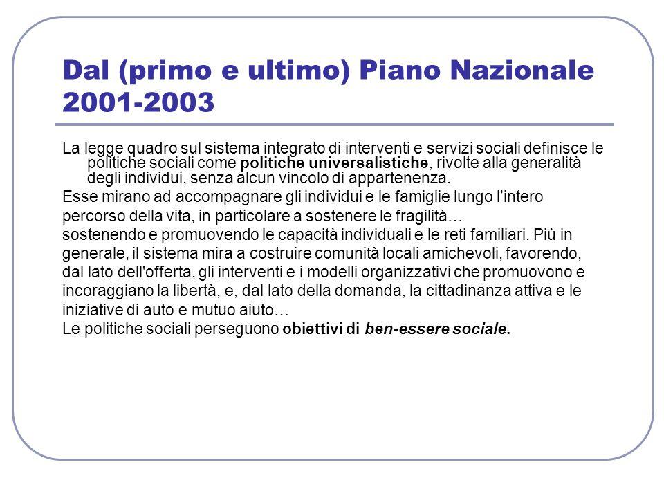 Dal (primo e ultimo) Piano Nazionale 2001-2003
