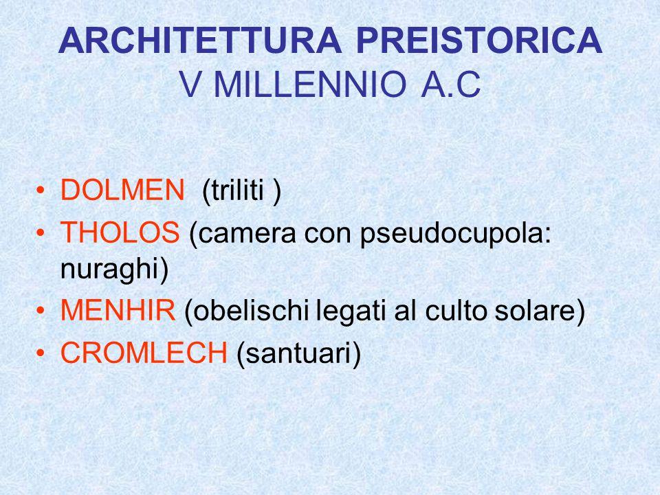 ARCHITETTURA PREISTORICA V MILLENNIO A.C