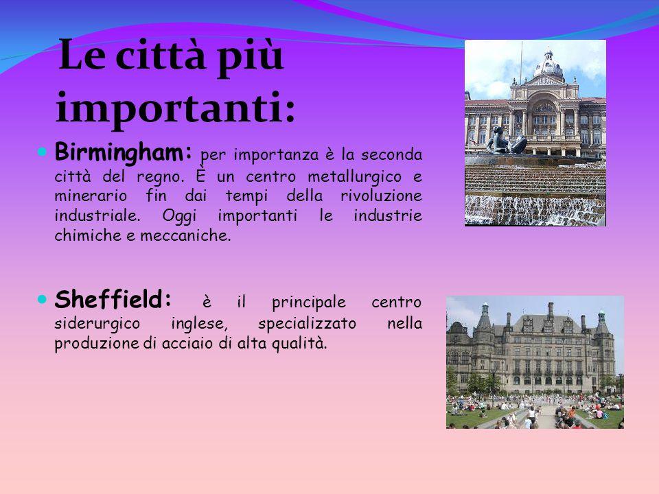 Le città più importanti: