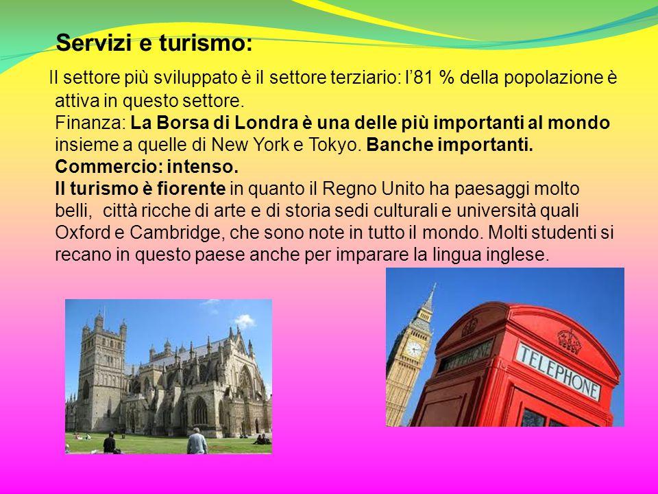 Servizi e turismo:
