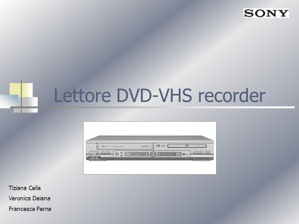 Lettore DVD-VHS recorder