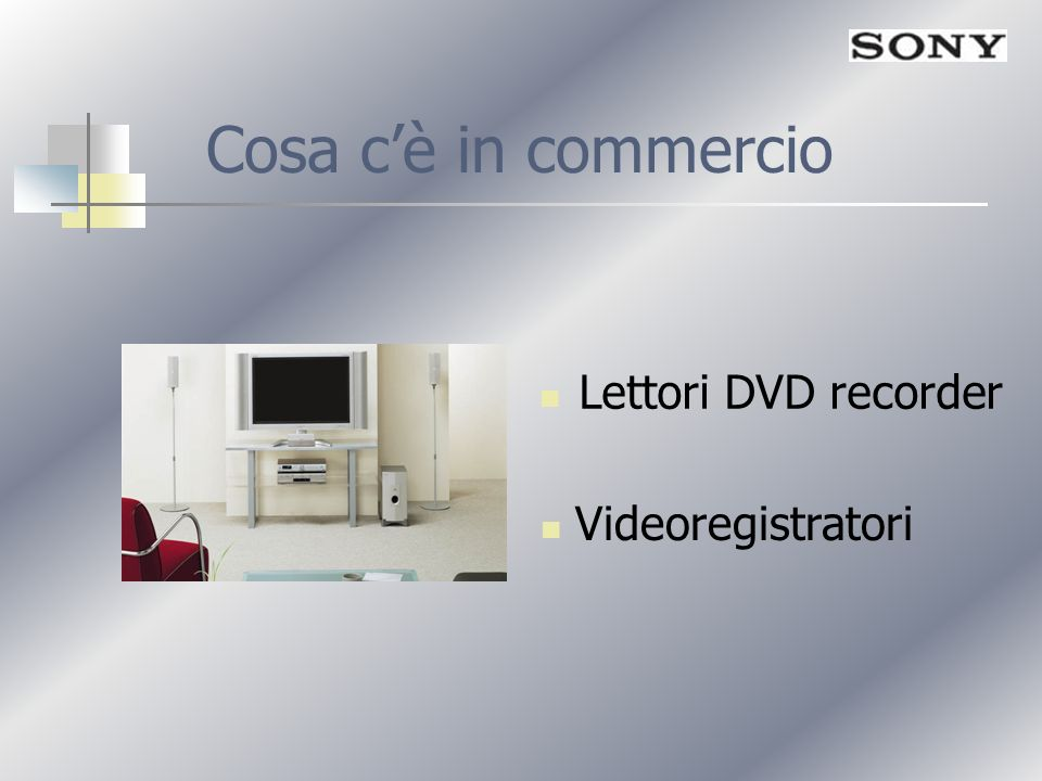 Cosa c'è in commercio Lettori DVD recorder Videoregistratori