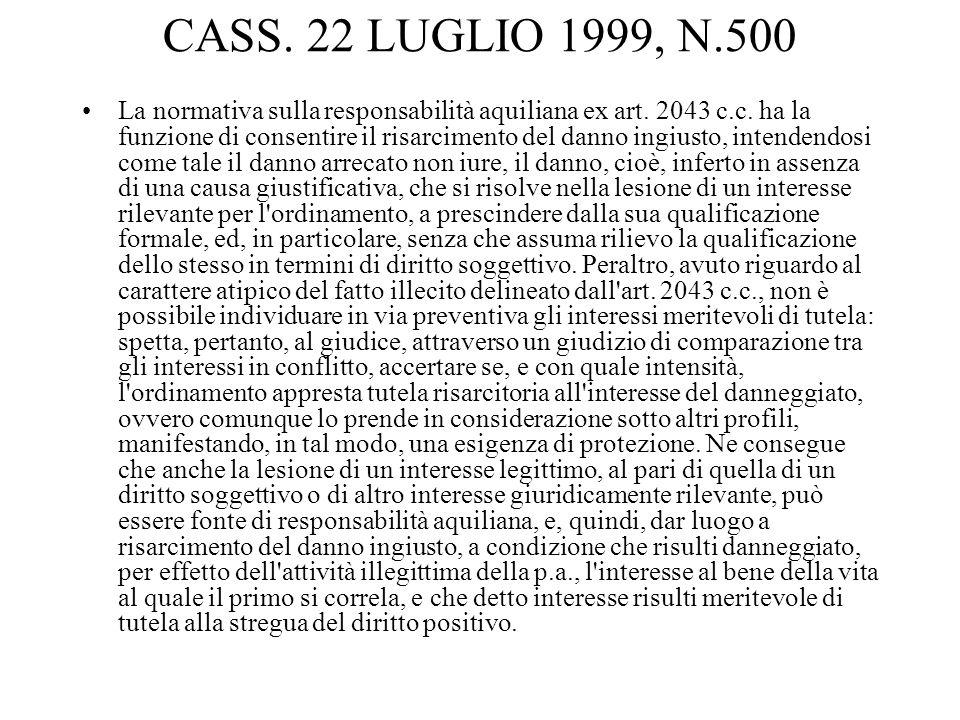 CASS. 22 LUGLIO 1999, N.500