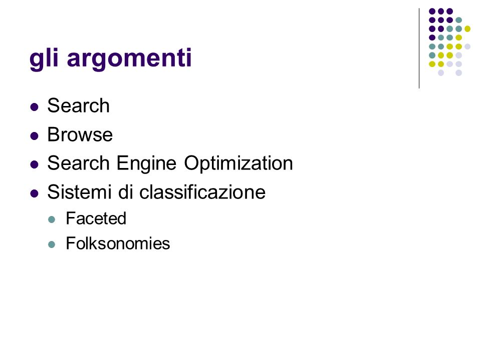 gli argomenti Search Browse Search Engine Optimization