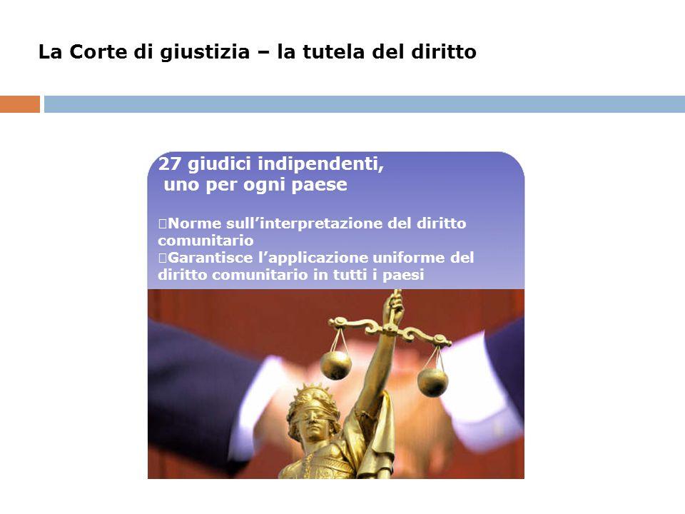 La Corte di giustizia – la tutela del diritto