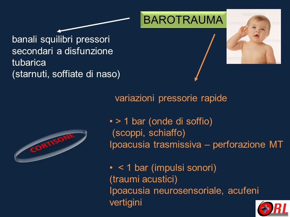 BAROTRAUMA CORTISONE banali squilibri pressori