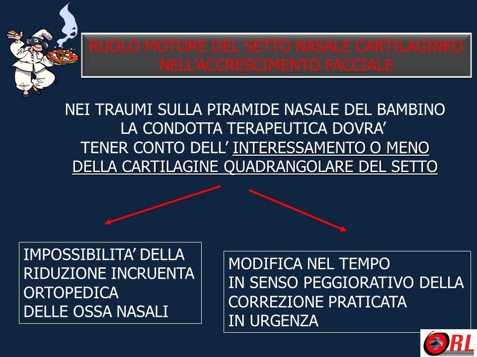 RUOLO MOTORE DEL SETTO NASALE CARTILAGINEO NELL'ACCRESCIMENTO FACCIALE