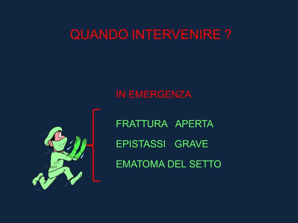 QUANDO INTERVENIRE IN EMERGENZA FRATTURA APERTA EPISTASSI GRAVE