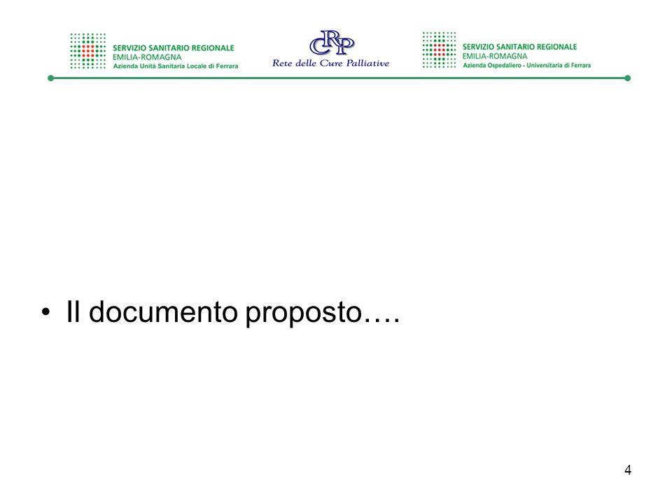 Il documento proposto….