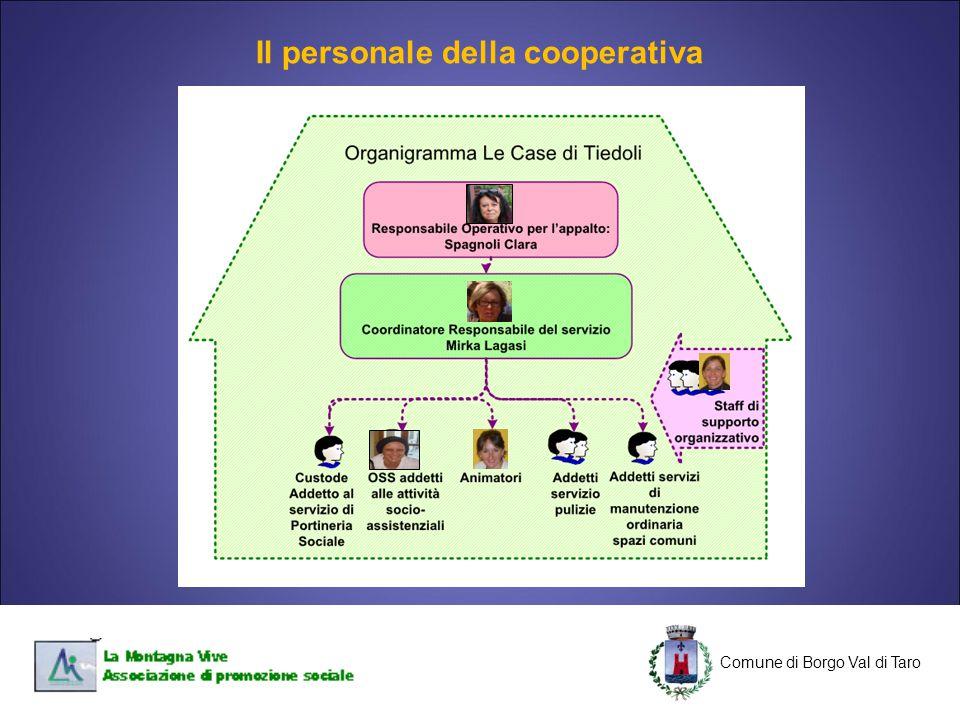 Il personale della cooperativa