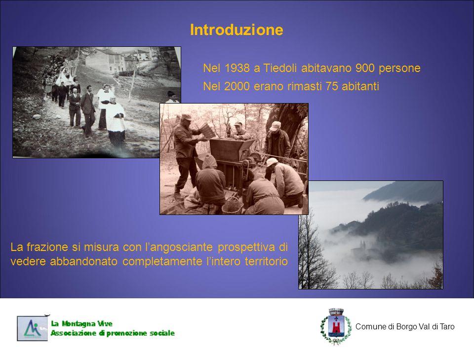 Introduzione Nel 1938 a Tiedoli abitavano 900 persone