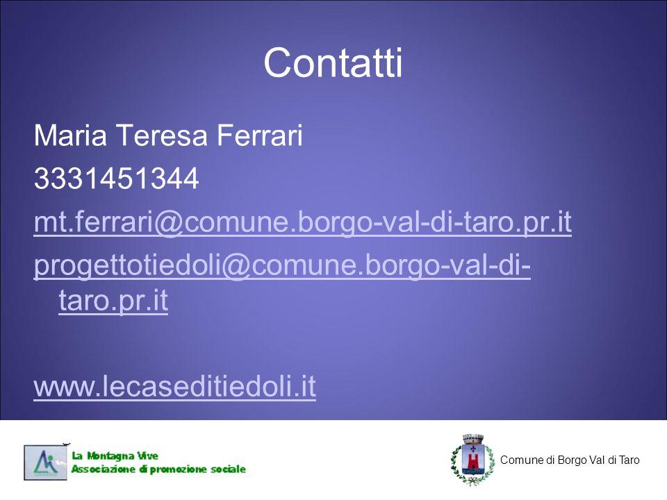 Contatti Maria Teresa Ferrari 3331451344