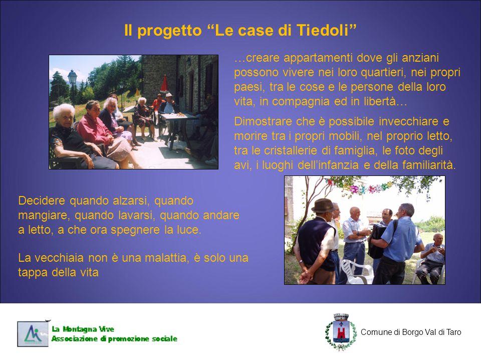 Il progetto Le case di Tiedoli