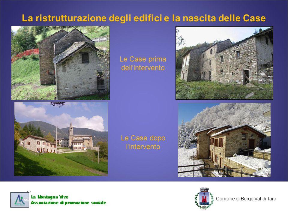 La ristrutturazione degli edifici e la nascita delle Case