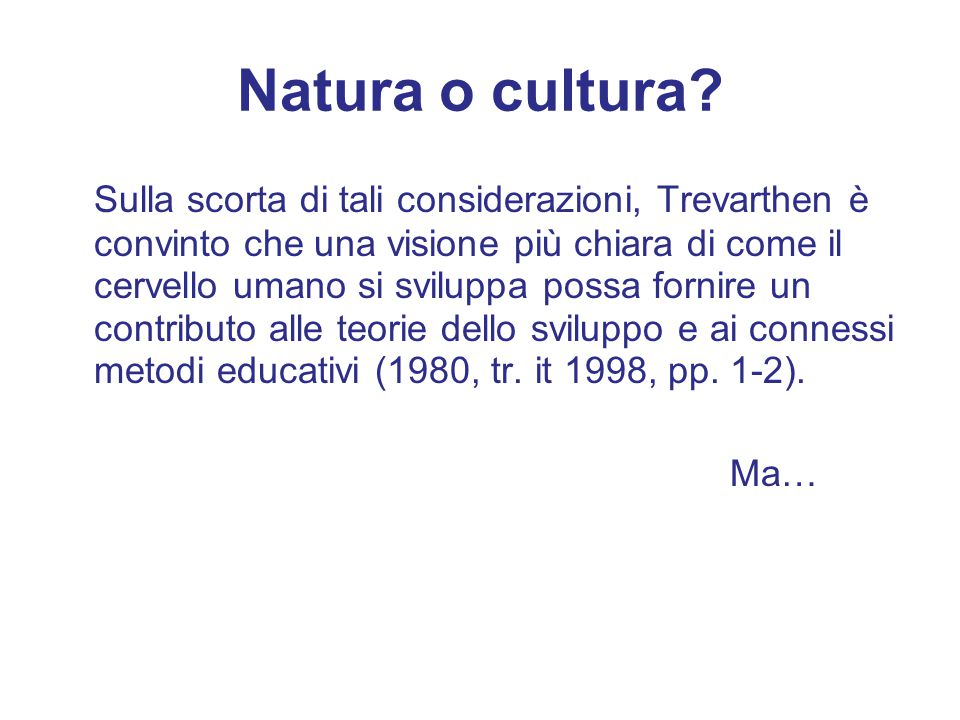 Natura o cultura