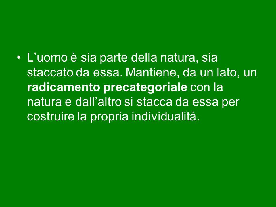 L'uomo è sia parte della natura, sia staccato da essa