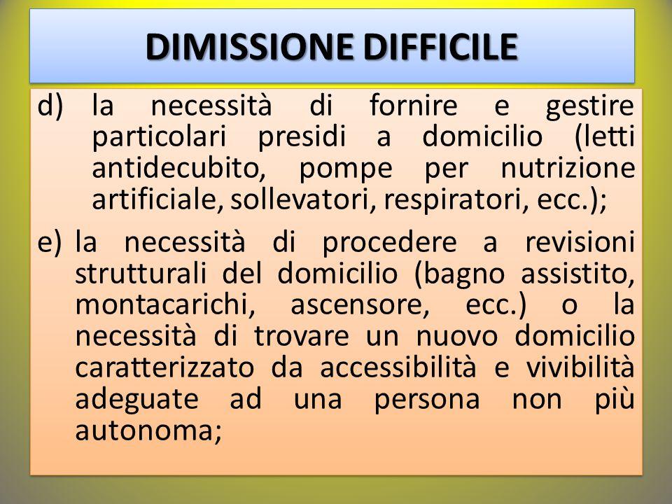 DIMISSIONE DIFFICILE