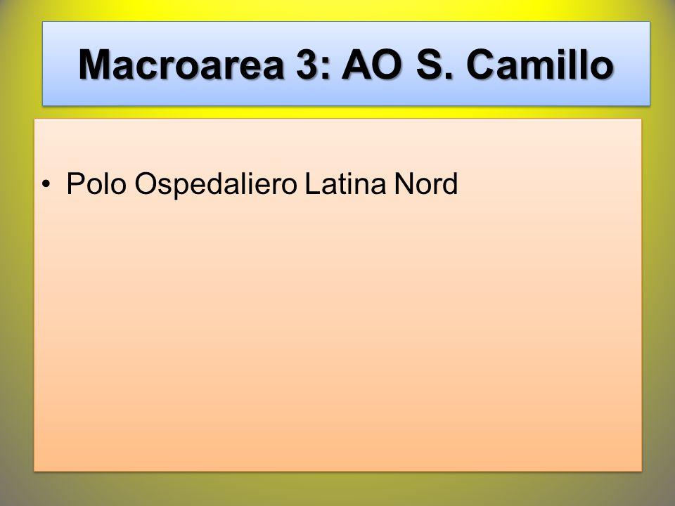 Macroarea 3: AO S. Camillo