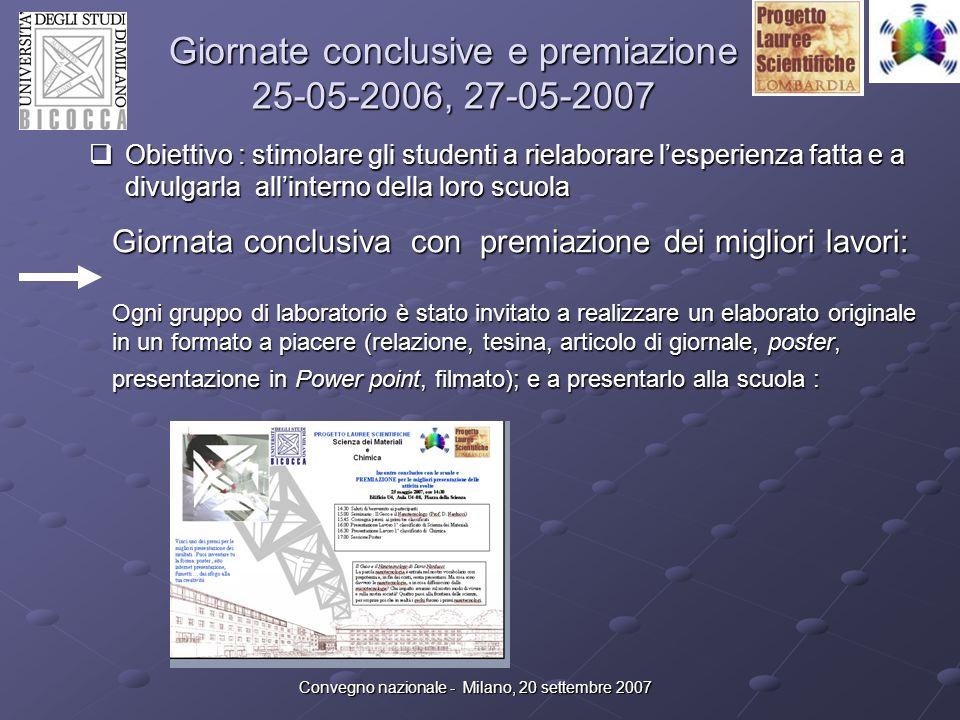 Giornate conclusive e premiazione 25-05-2006, 27-05-2007