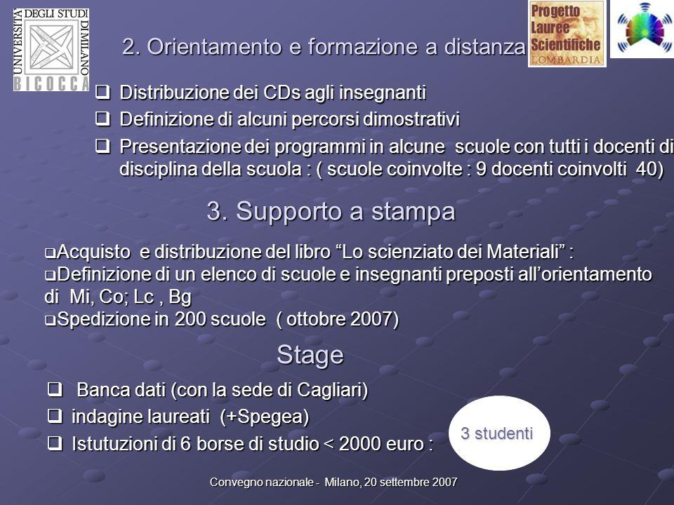 2. Orientamento e formazione a distanza