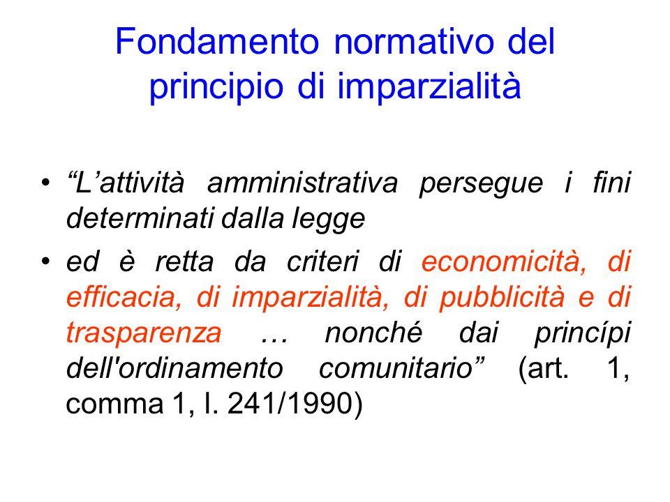 Fondamento normativo del principio di imparzialità