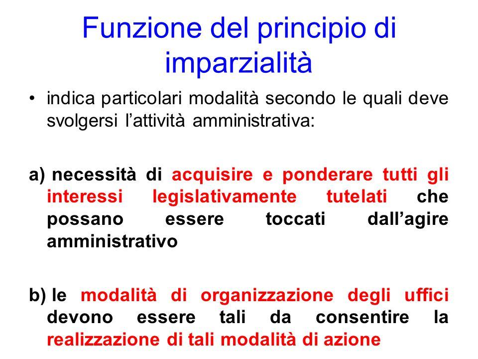 Funzione del principio di imparzialità
