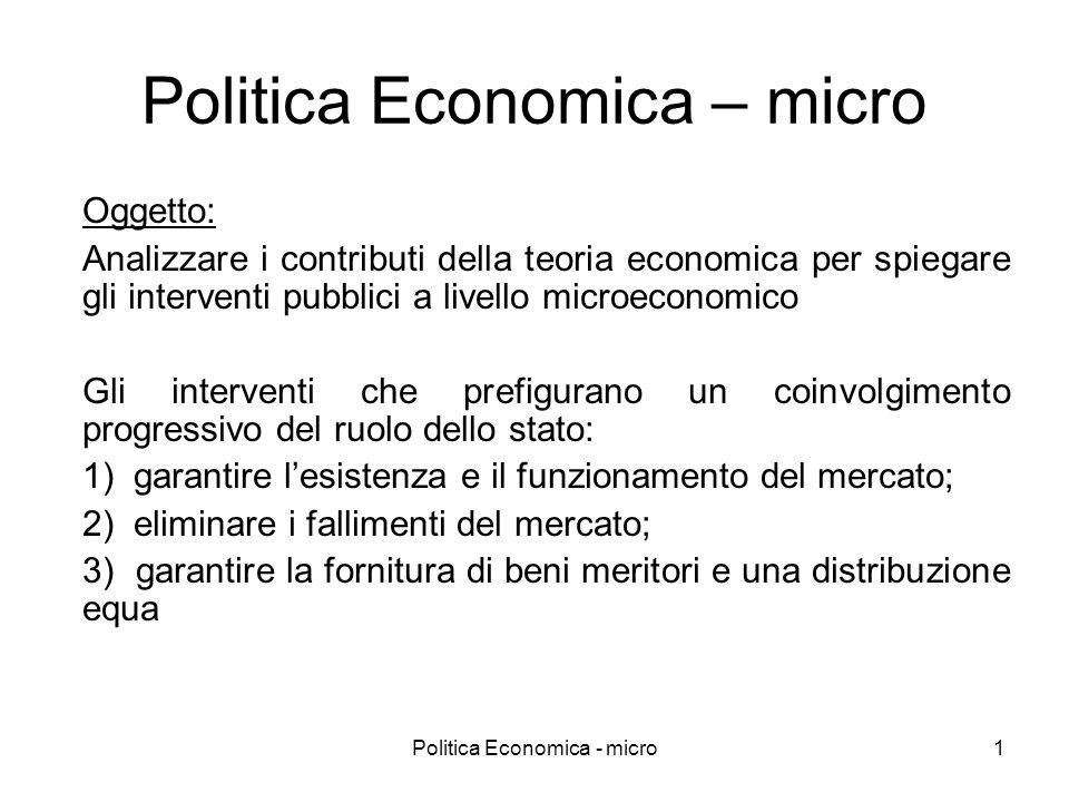 Politica Economica – micro