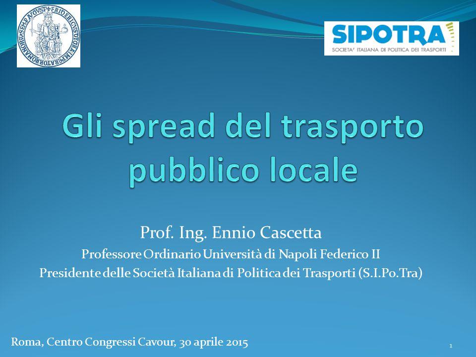 Gli spread del trasporto pubblico locale