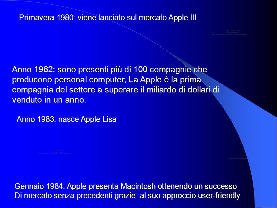Primavera 1980: viene lanciato sul mercato Apple III