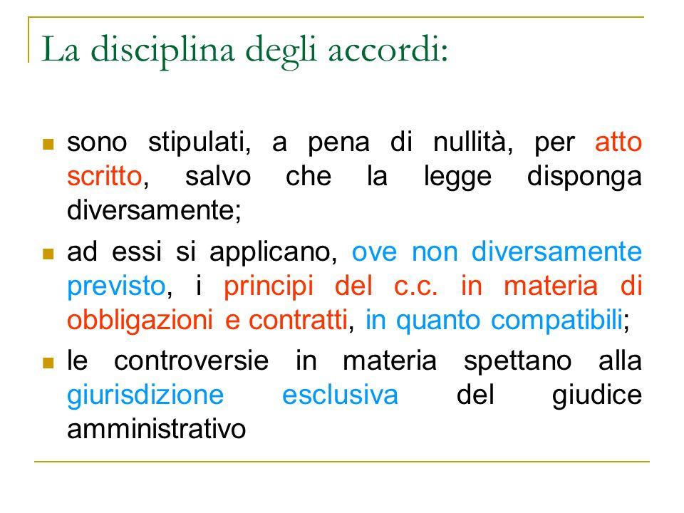 La disciplina degli accordi: