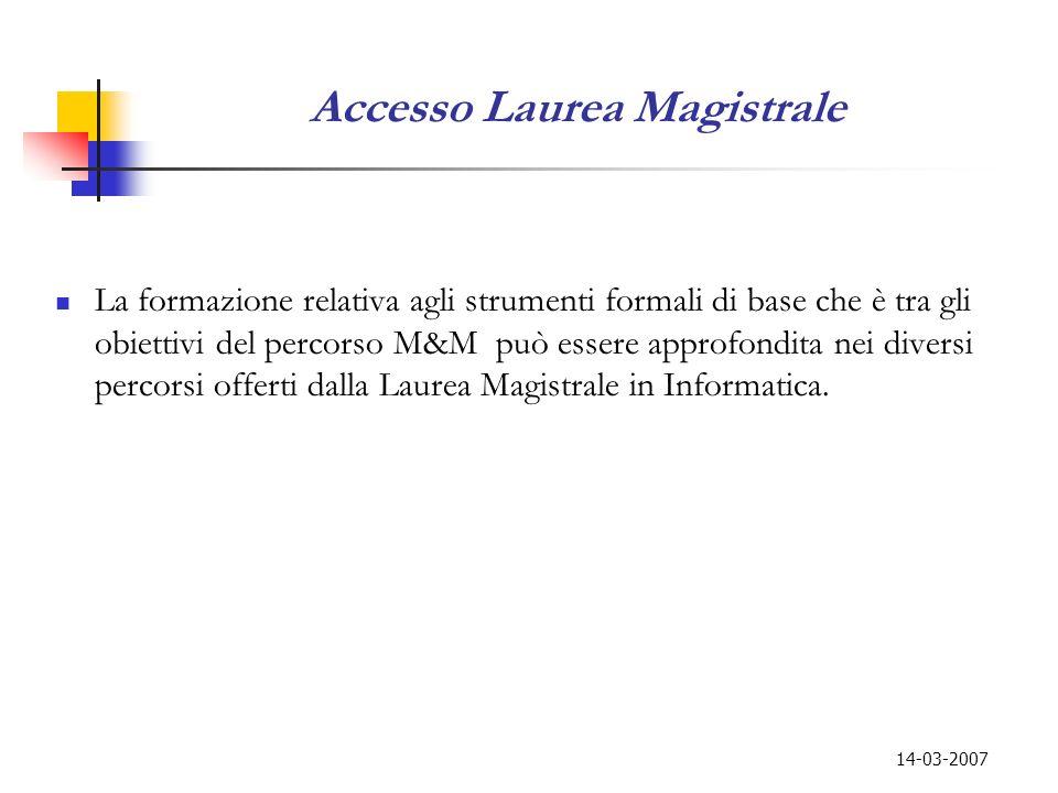 Accesso Laurea Magistrale