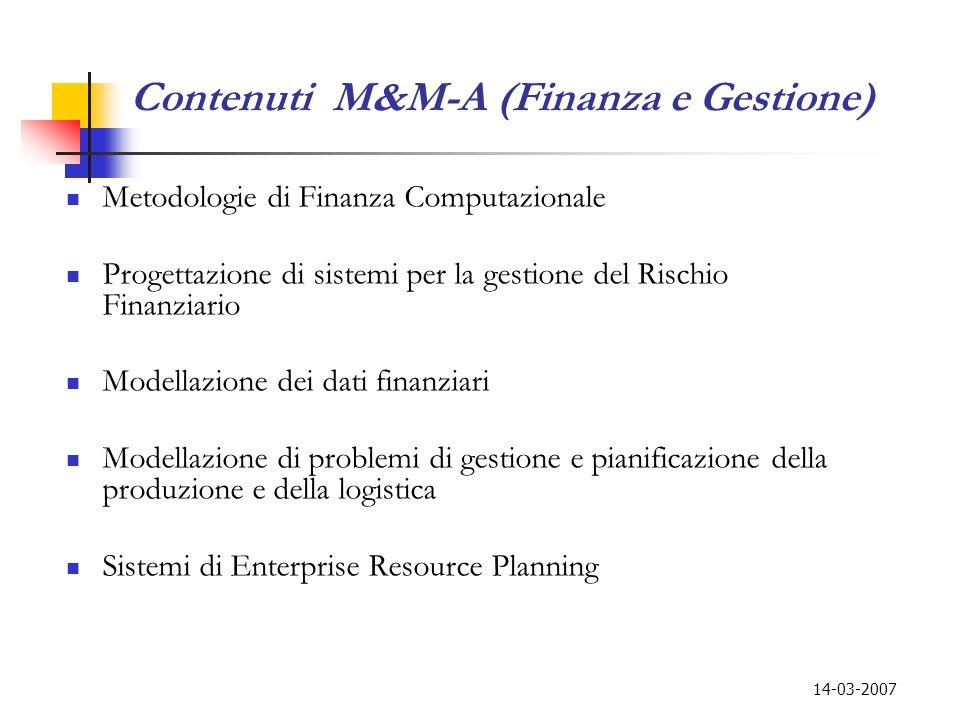 Contenuti M&M-A (Finanza e Gestione)