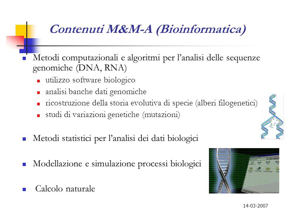 Contenuti M&M-A (Bioinformatica)