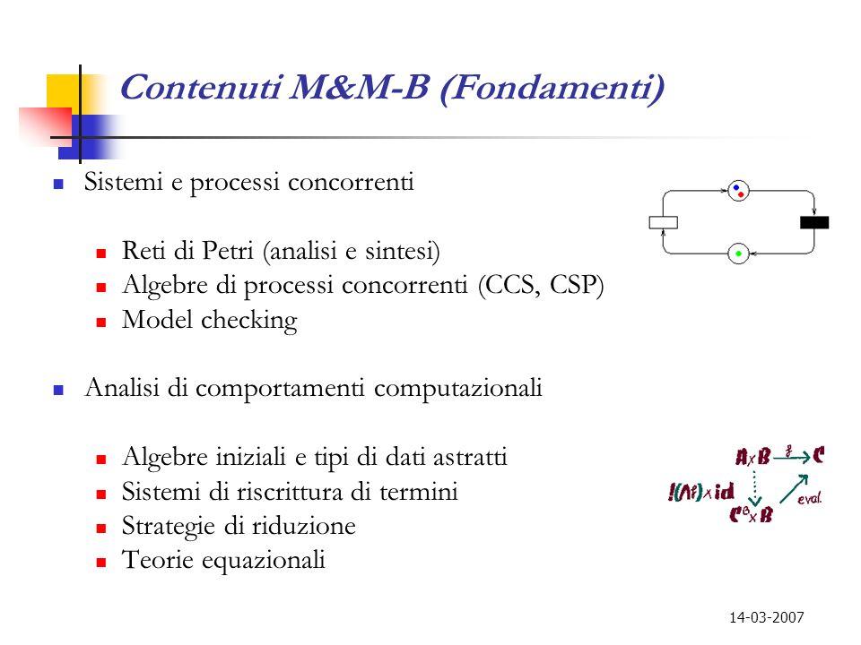Contenuti M&M-B (Fondamenti)