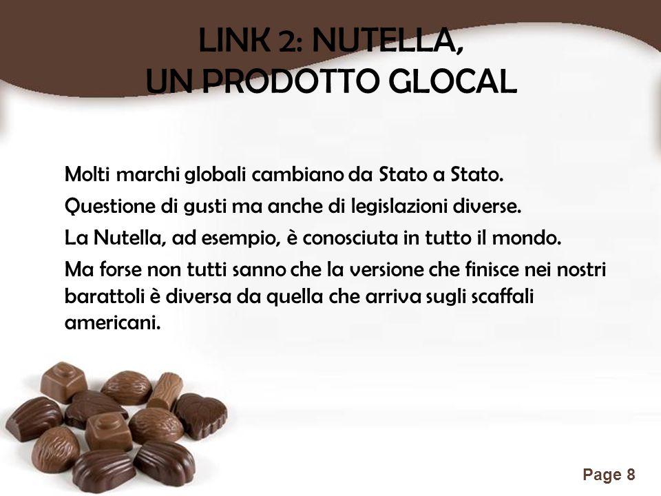 LINK 2: NUTELLA, UN PRODOTTO GLOCAL