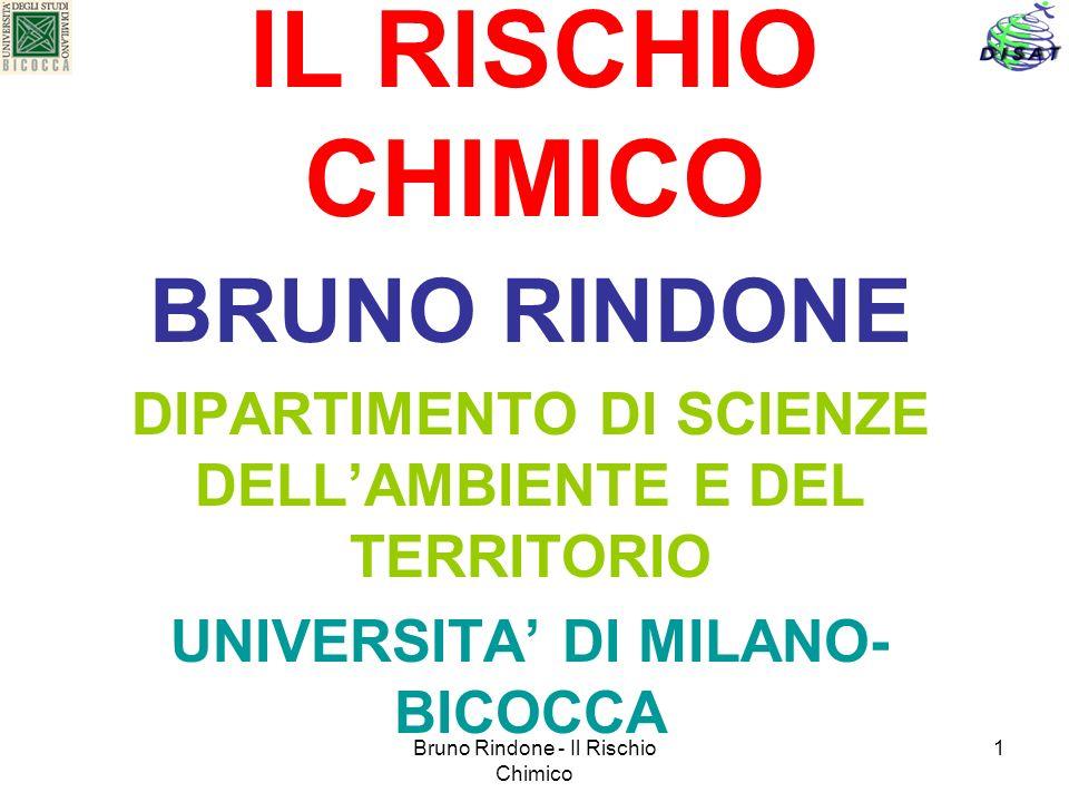 IL RISCHIO CHIMICO BRUNO RINDONE