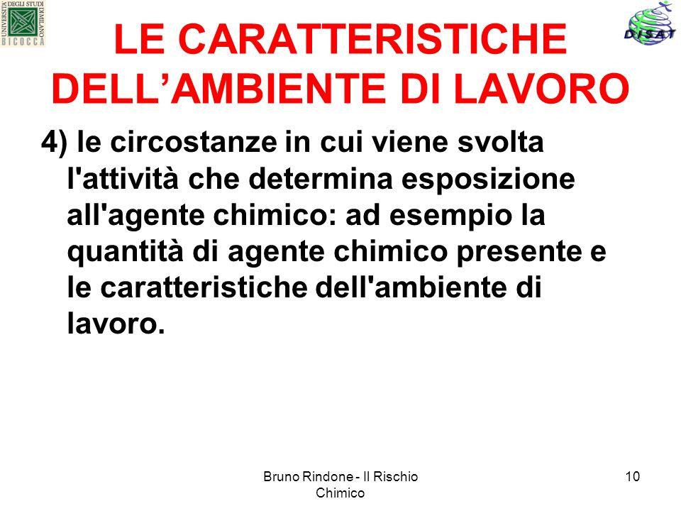 LE CARATTERISTICHE DELL'AMBIENTE DI LAVORO
