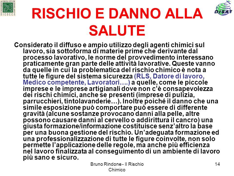RISCHIO E DANNO ALLA SALUTE