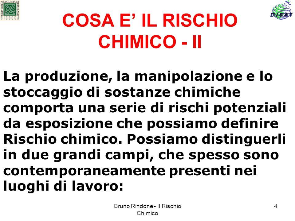 COSA E' IL RISCHIO CHIMICO - II