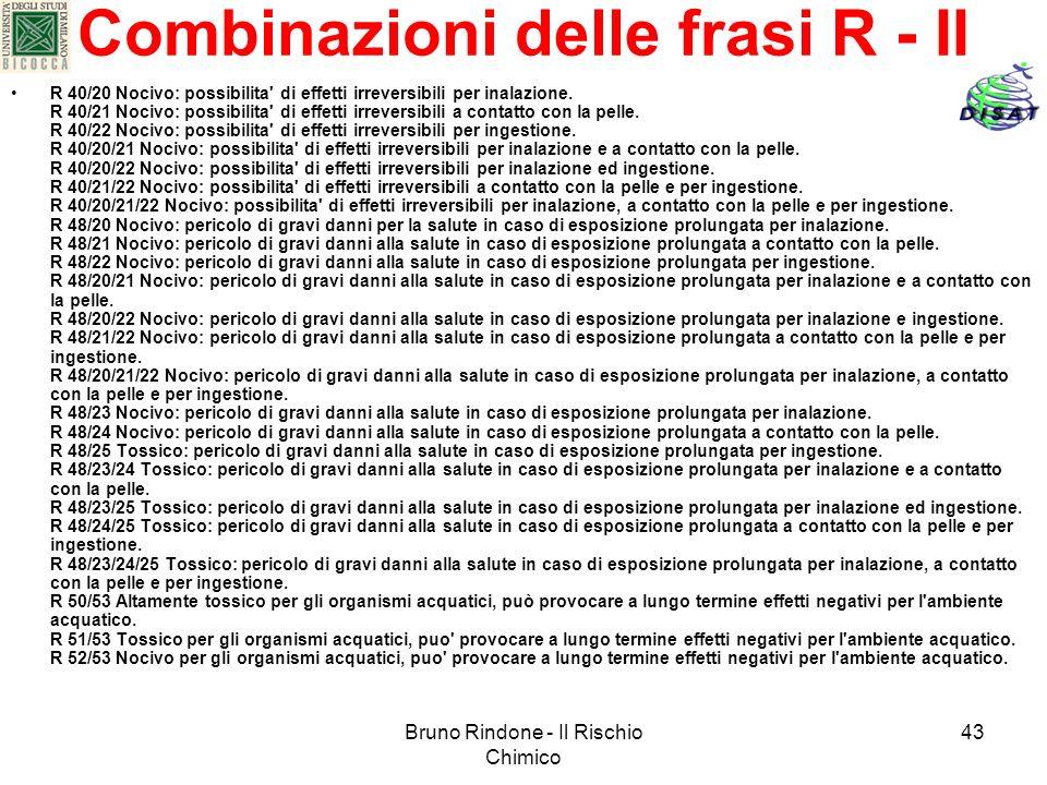 Combinazioni delle frasi R - II