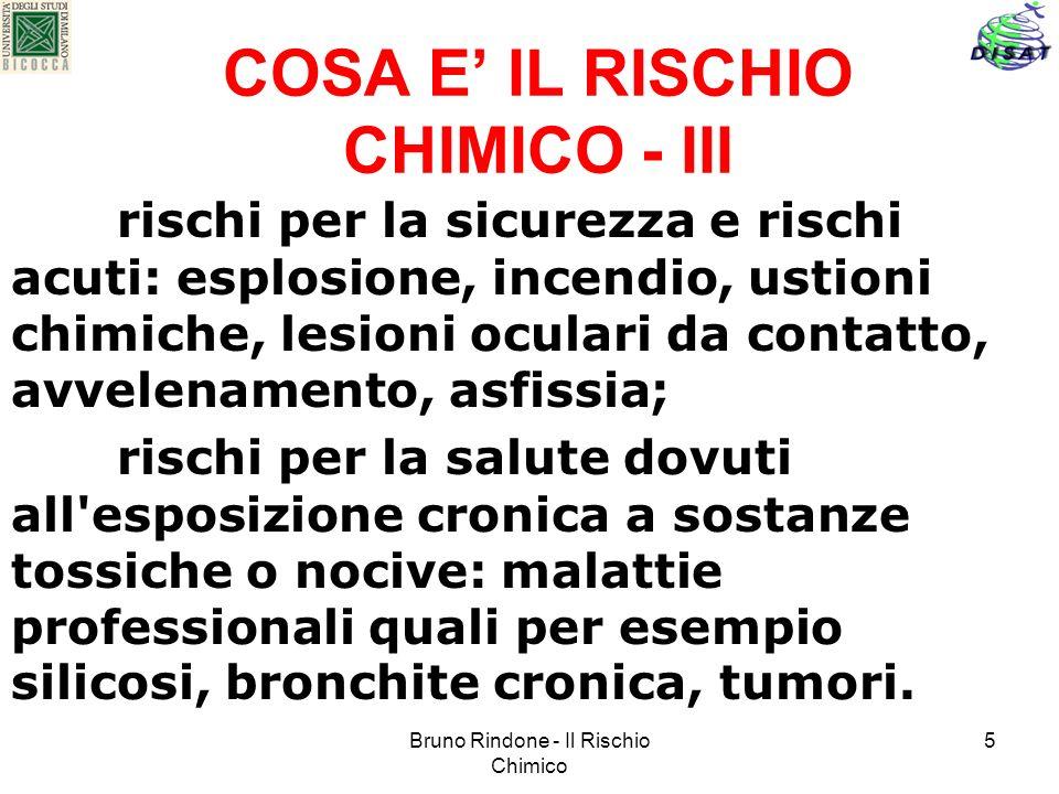 COSA E' IL RISCHIO CHIMICO - III