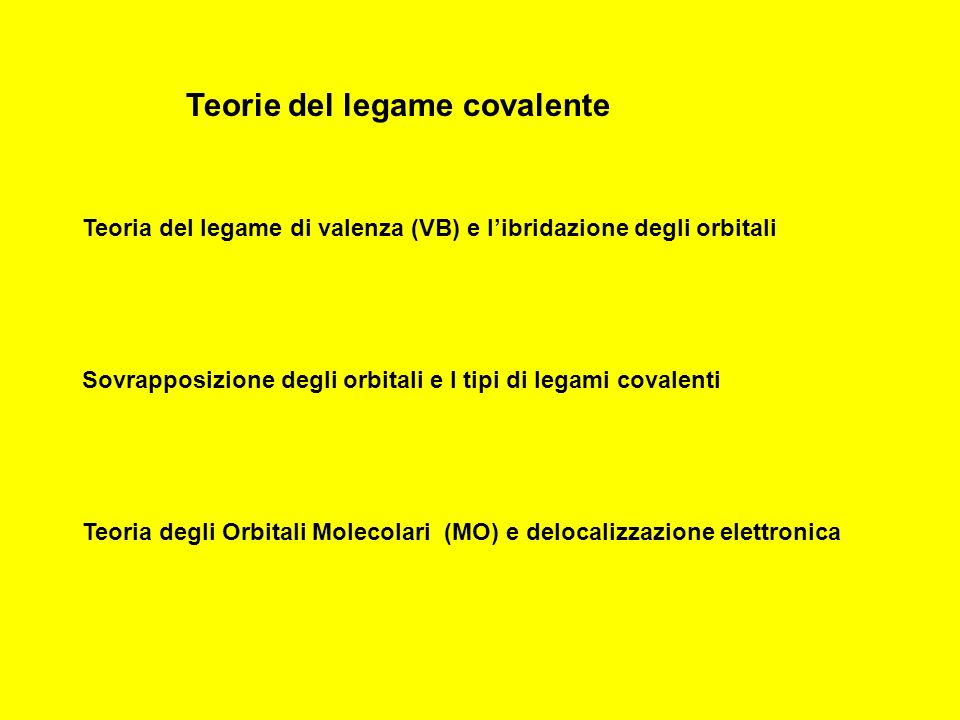 Teorie del legame covalente