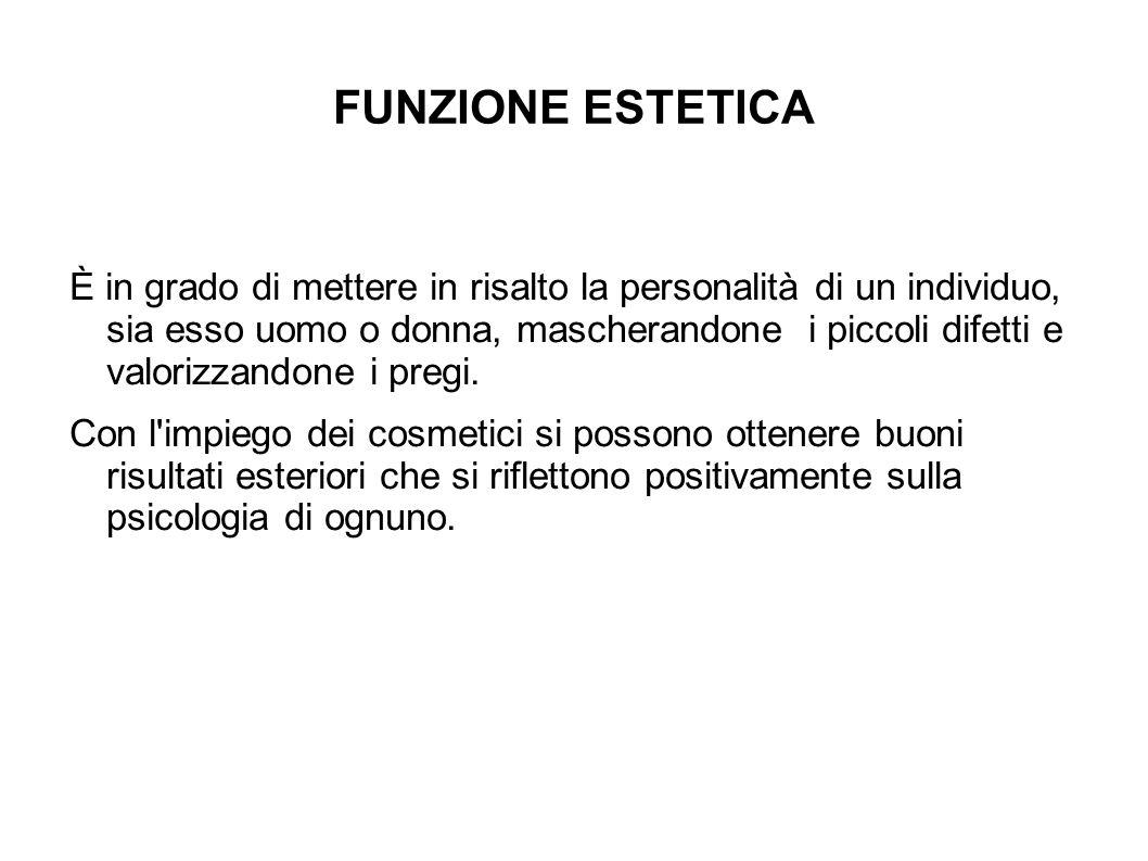 FUNZIONE ESTETICA