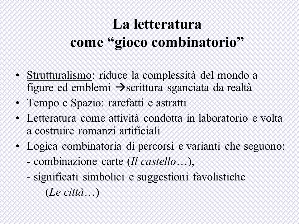 La letteratura come gioco combinatorio