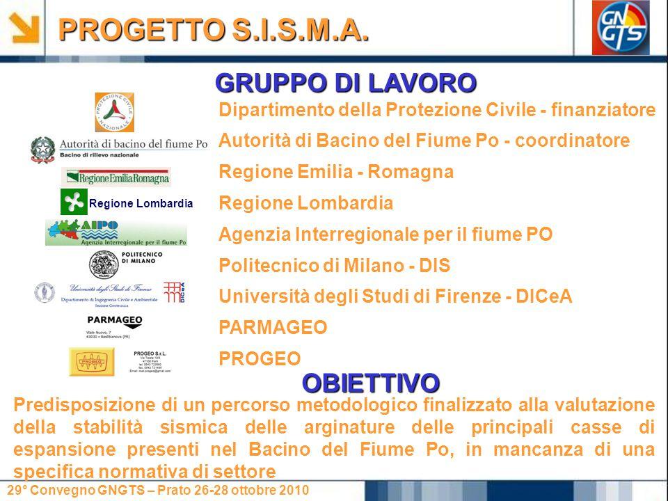 PROGETTO S.I.S.M.A. GRUPPO DI LAVORO OBIETTIVO
