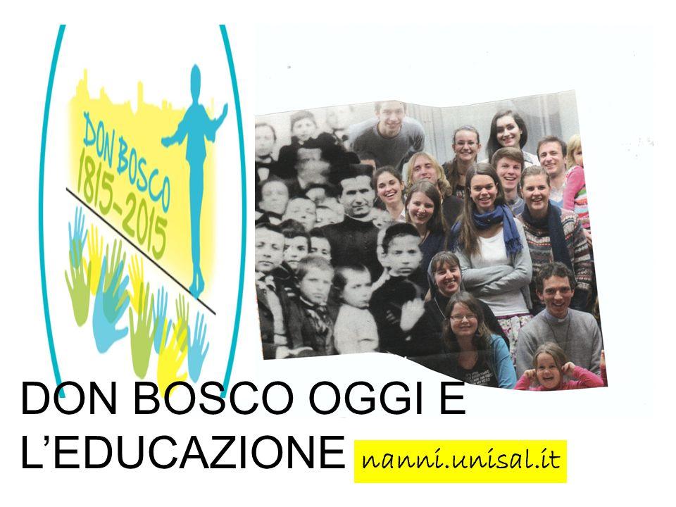 DON BOSCO OGGI E L'EDUCAZIONE