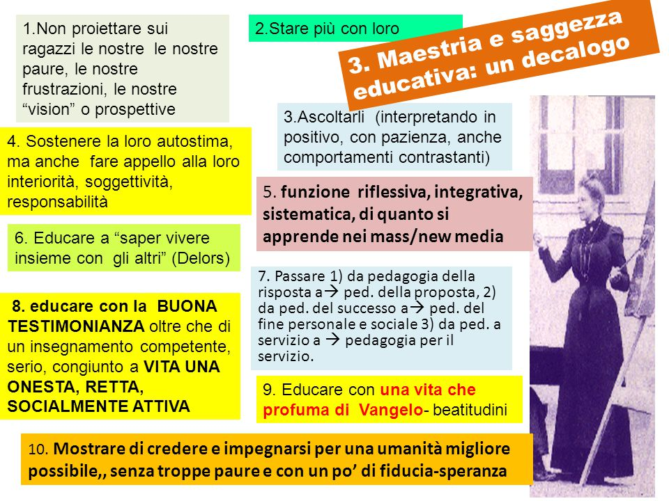 3. Maestria e saggezza educativa: un decalogo