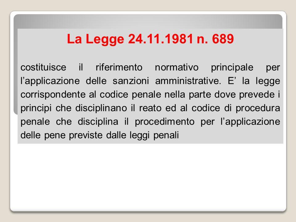 La Legge 24.11.1981 n. 689