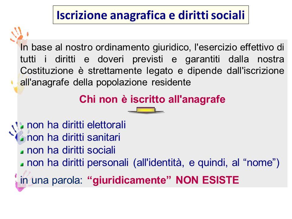 Iscrizione anagrafica e diritti sociali